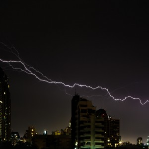 lightning in our street on May 8th